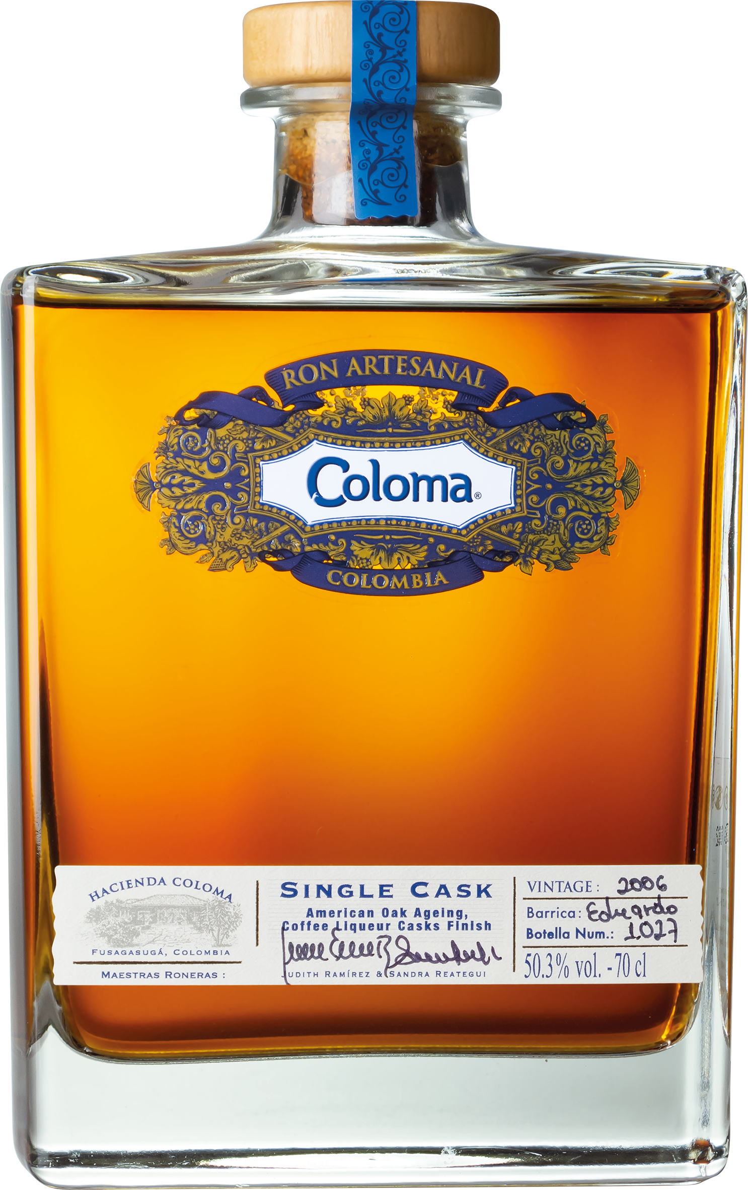 Coloma Single Cask 2006 Flasche